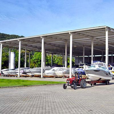 Garagem Nautica, estrutura da marina Capital